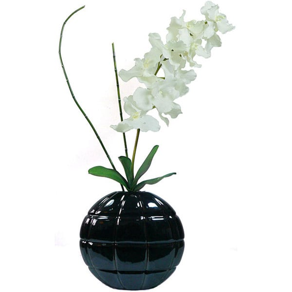 Laura Ashley Real Touch White Vanda Orchid