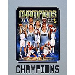 2011 Dallas Mavericks NBA Champions Matted Photo