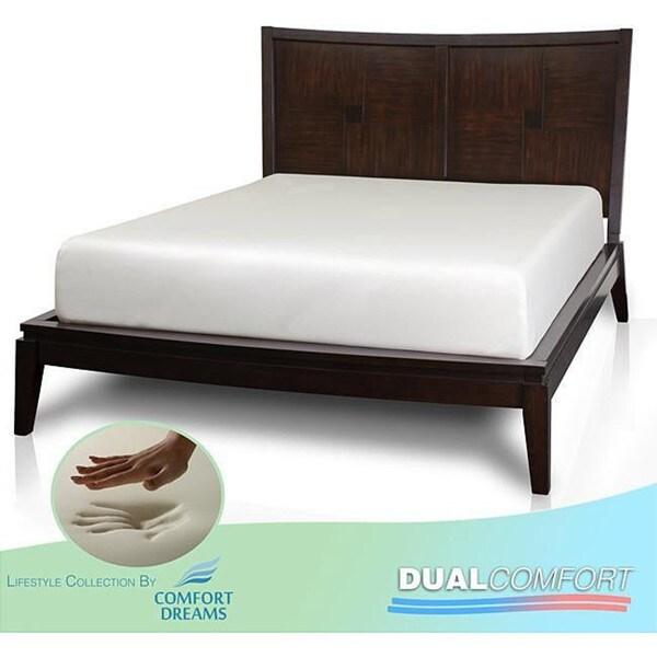 Comfort Dreams Dual Comfort 12-inch Cal King-size Memory Foam Mattress