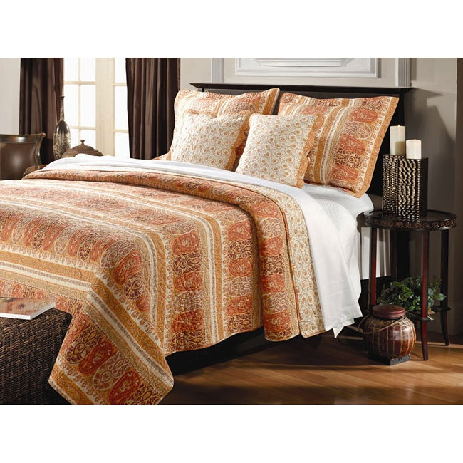 Greenland Home Fashions Taj Oversized 3-Piece Quilt Set