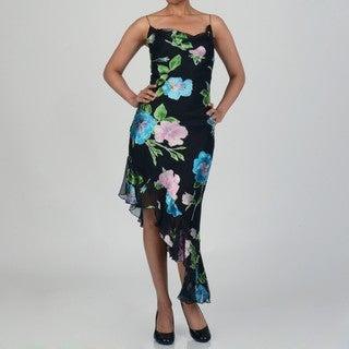 Issue New York Women's Floral Print Handkerchief Hem Dress