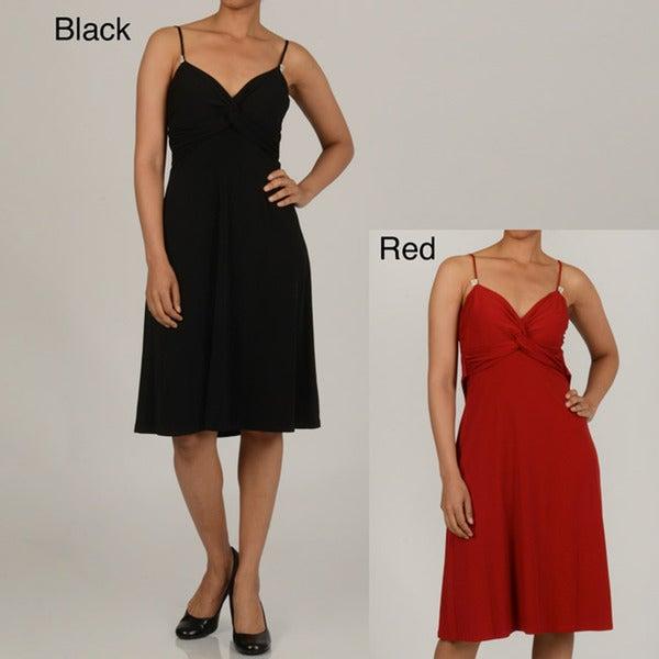 Issue New York Women's Knotted Bodice Rhinestone-detail Dress