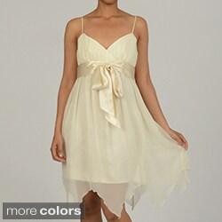 Issue New York Women's Empire Waist Tie Front Short Evening Dress