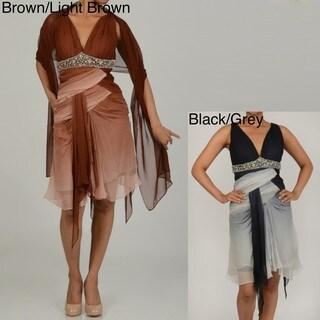 Issue New York Women's Ombre Sequin Detail Short Evening Dress