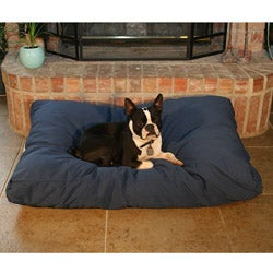 Rectangle Navy Pet Bed