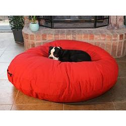 Large Red 50-inch Round Pet Bed