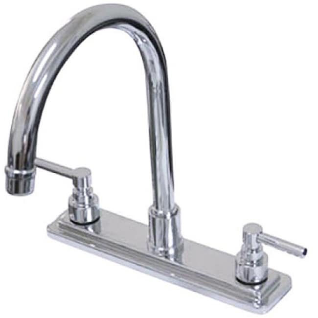 Claremont Chrome 8-inch Kitchen Faucet - Thumbnail 0