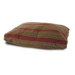 Burgundy Stripe Pet Bed - Thumbnail 1