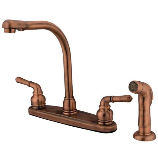 High Arch Antique Copper Kitchen Faucet - Free Shipping Today ...