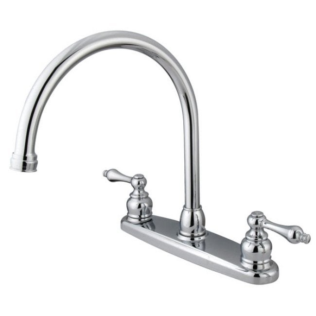vintage chrome kitchen faucet free shipping today shop cleanflo andromeda chrome 1 handle pull down deck
