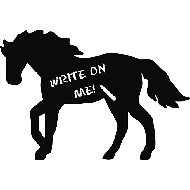 Vinyl Attraction Horse Dark Grey Chalkboard Decal