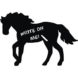 Vinyl Attraction Horse Dark Grey Chalkboard Decal - Thumbnail 0
