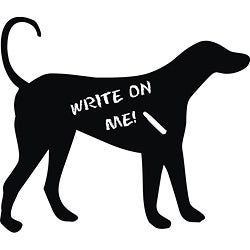 Vinyl Attraction 'Dog Chalkboard' Vinyl Decal