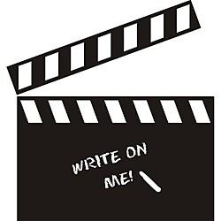 Vinyl Attraction Directors Movie Clapboard Dark Grey Chalkboard Decal