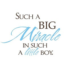 Vinyl Attraction 'Such a Big Miracle in Such a Little Boy' Vinyl Decal