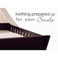 Vinyl Attraction 'Nothing Prepared Us For Your Smile' Black Nursery Decal