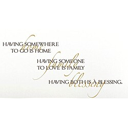 Vinyl Attraction 'Having Somewhere To Go Is Home' Inspiring Vinyl Decal