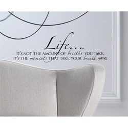 Vinyl Attraction 'Life is learning to dance in the rain'' Vinyl Wall Design