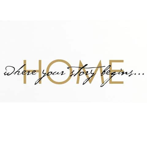 Vinyl Attraction 'Home: Where Your Story Begins' Vinyl Wall Decal