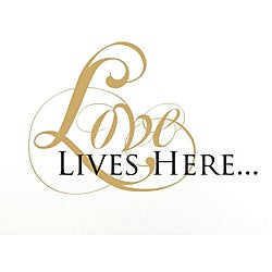 Vinyl Attraction 'Love Lives Here' Vinyl Wall Decal