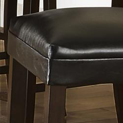 Jeremy Dark Brown Faux Leather Modern Counter Stool (Set of 2) - Thumbnail 2