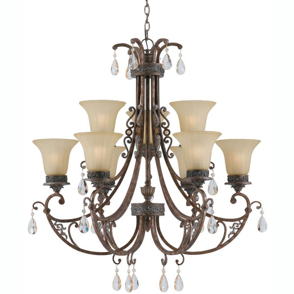 LeChandon Copper Patina 9-light Chandelier