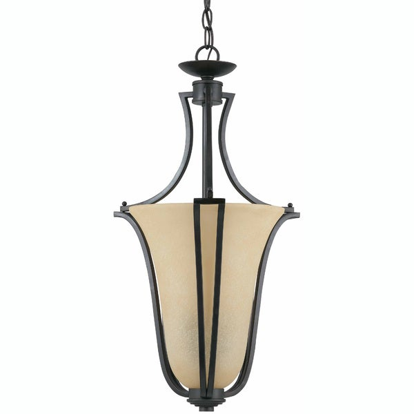 Greco English Bronze 2-light Pendant