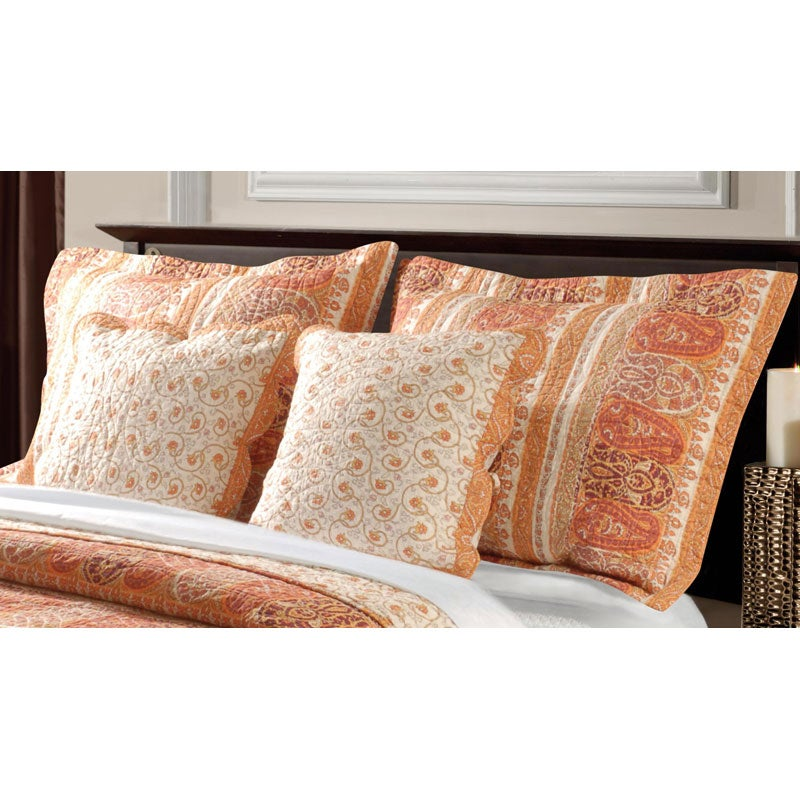 Greenland Home Fashions Taj Cotton King-size Pillow Shams (Set of 2)