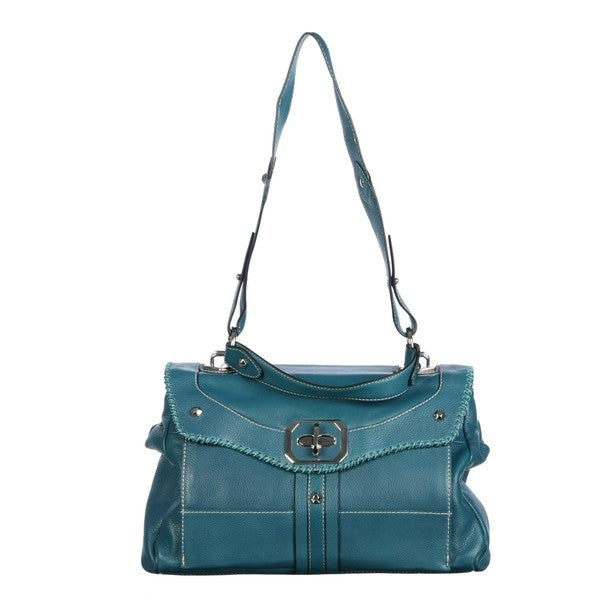 OR by Oryany Teal Leather Shoulder Bag