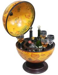 Merske 16.5-inch Italian Replica Tabletop Globe Bar - Thumbnail 1