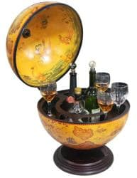 ... Merske 16.5 Inch Italian Replica Tabletop Globe Bar