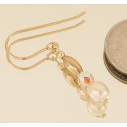Pearl and 14k Gold Fill 'Sweet Mya Valentine' Earrings (3 Pairs)
