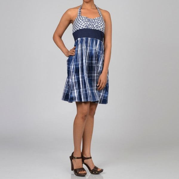 Decode 1.8 Women's Gingham/Plaid Halter Dress