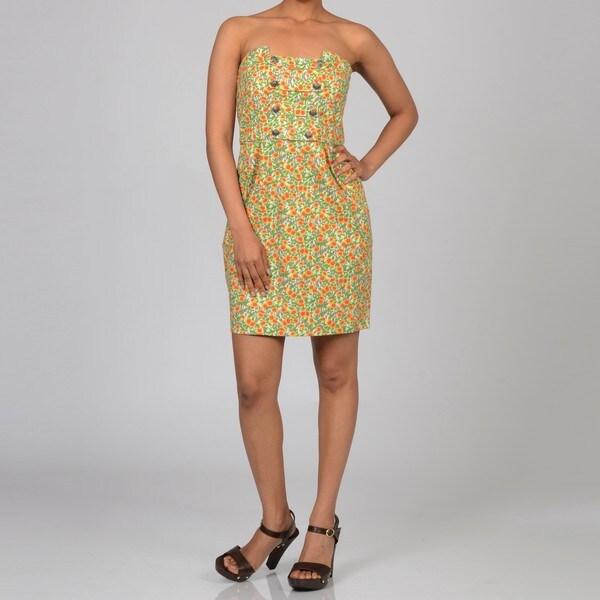 Decode 1.8 Women's Floral Button-detail Dress