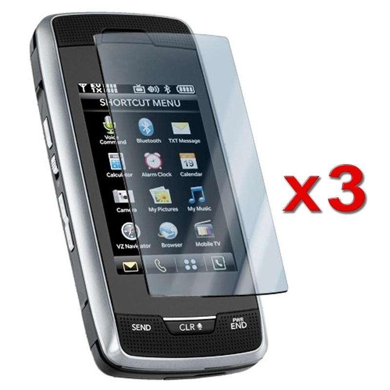 2-LCD Screen Protector for LG Voyager VX10000 (Pack of 3)