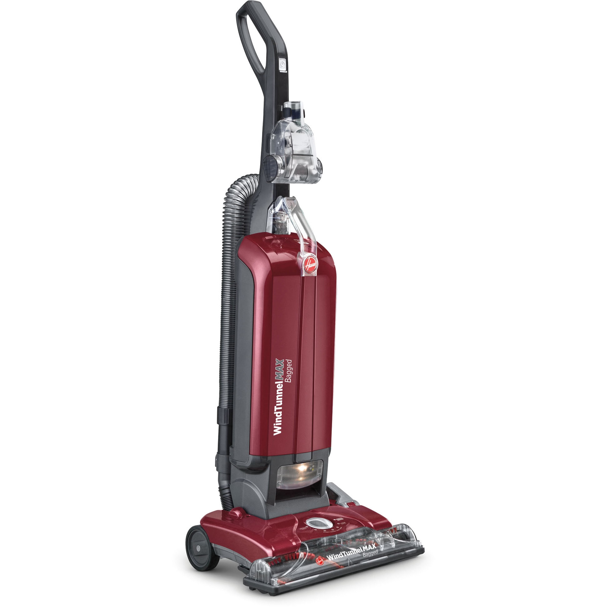 Hoover UH30600 WindTunnel Max Bagged Upright Vacuum, Red