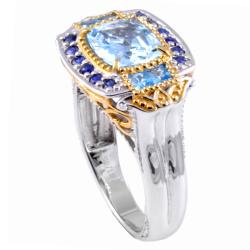 Michael Valitutti Two-tone Aquamarine and Blue Topaz Ring - Thumbnail 1