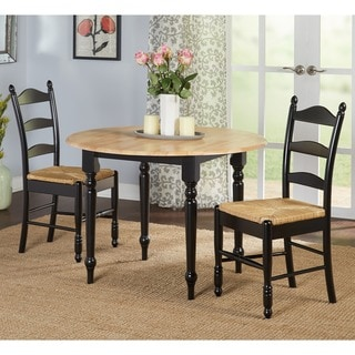 Simple Living 3 Piece Ladderback Dining Set