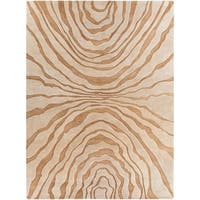 Hand-tufted Contemporary Beige Baltimore New Zealand Wool Abstract Area Rug - 8' x 11'