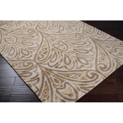 Bob Mackie Hand-tufted Gold Contemporary Boise New Zealand Wool Abstract Rug (8' x 11')