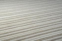 Hand-crafted Beige Stripe Fairbanks Wool Rug (8' x 11') - Thumbnail 2