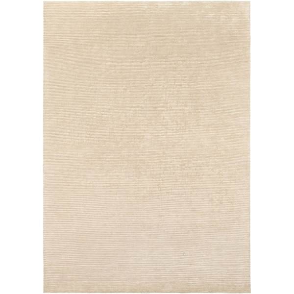 Hand-knotted Solid Beige Causal Pueblo Wool Area Rug - 8' X 11'