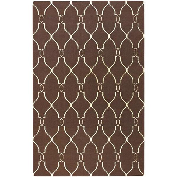 Hand-woven Providence Brown Flatweave Wool Area Rug (5' x 8')