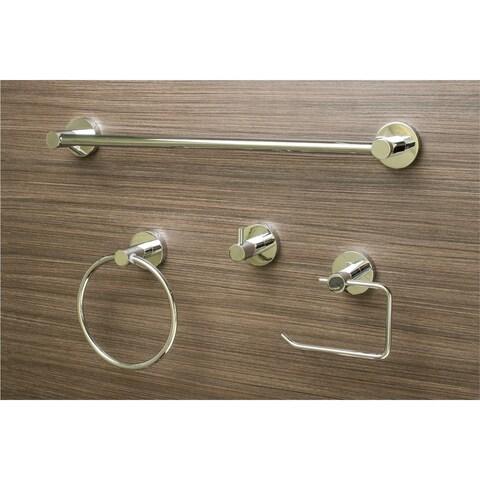 Sure-Loc Modern Polished Chrome 4-piece Bathroom Accessory Set