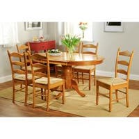 Simple Living Oak Finish 7-piece Ladderback Dining Set
