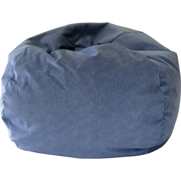 Gold Medal Kid's Navy Twill Suede Beanbag