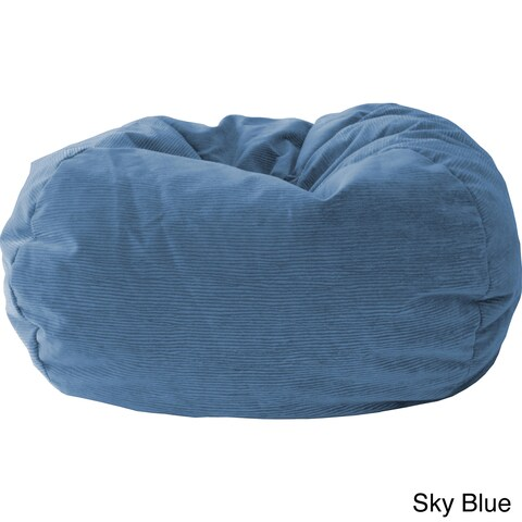 Gold Medal Kid's Corduroy Suede Bean Bag Chair