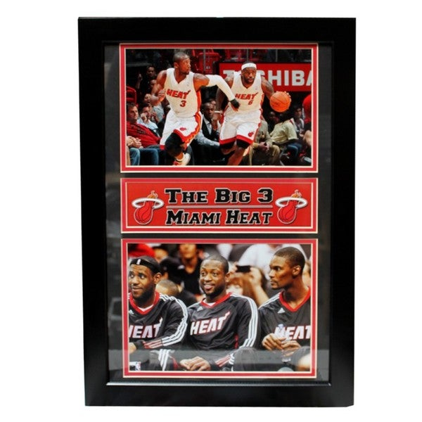 2011 Miami Heat Big Three Frame