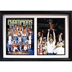 Dallas Mavericks 2011 NBA Champions Double Frame