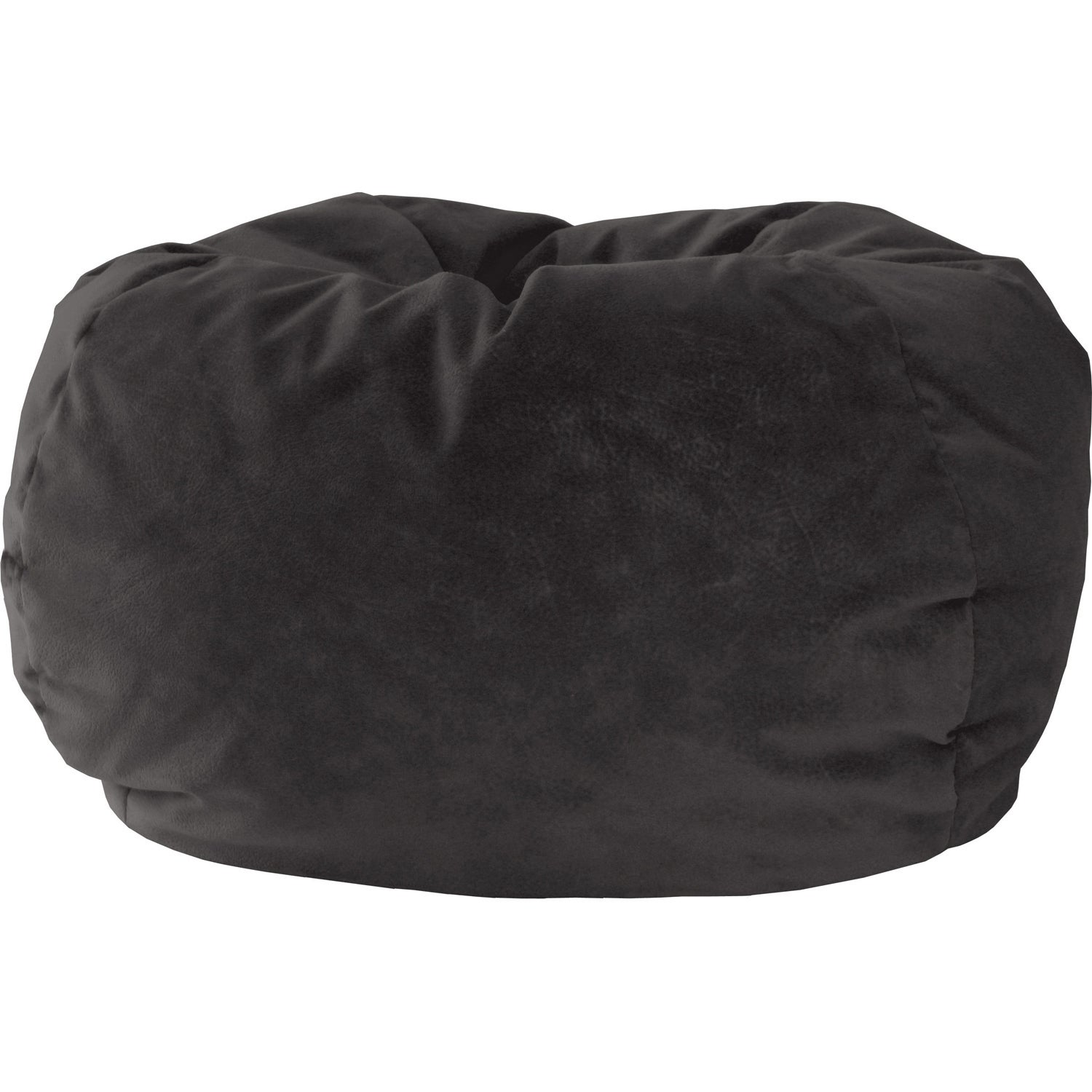 Kids Suede Bean Bag Chair Removable Cover With Childproof Zipper 84In Black New